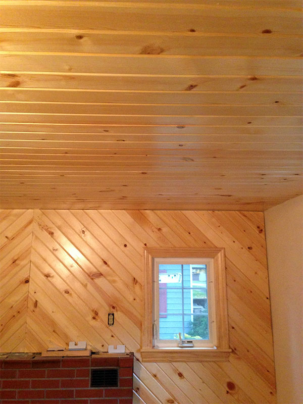 Interiors zehr building llc for Tongue and groove interior wood paneling